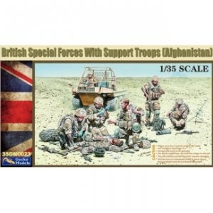 Gecko Models 35GM0023 British Special Forces with Support Troops 1/35