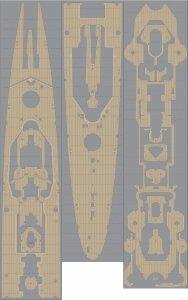 Pontos 35018WD1 DKM Hipper Wooden Deck set (1:350)