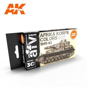 AK Interactive AK 11652 AFRIKA KORPS COLORS 1941-1943 6x17 ml
