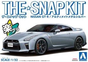 Aoshima 05641 The Snap Kit Nissan GT-R Ultimate Metal Silver 1/32