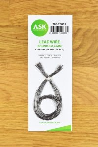 ASK T0061 Lead Wire - Round Ø 0,4 mm x 250 mm (28 pcs)
