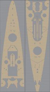 Pontos 35012WD1 DKM Scharnhorst Wooden Deck set Type 1 (1:350)