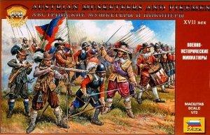 Zvezda 8061 Austrian Musketeers and Pikemen 1/72