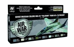 Vallejo 71605 Soviet / Russian colors MiG-29 Fulcrum from 80 to present 8x17 ml
