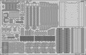 Eduard 53204 DKM Graf Zeppelin pt.1 deck & jeraby TRUMPETER 1/350