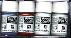 Vallejo 73195 Acrylic Textures Effect Set