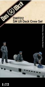 Das Werk DWF012 SM U9 Deck Crew Set Includes three resin figures for our u-boat ( DW72001 ) 1/72