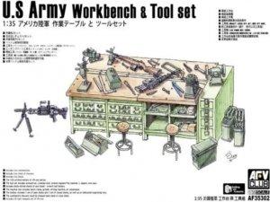 AFV Club AF35302 U.S Army Workbench & Tool set 1/35