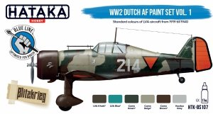 Hataka BS107 WW2 Dutch AF Paint Set Vol. 1 set 6x17 ml