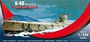 Mirage Hobby 350504 U-40 IXA [turm I] Niemiecki Okręt Podwodny 1:350