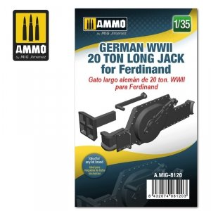 Ammo of Mig 8120 German WWII 20 ton Long Jack for Ferdinand 1/35