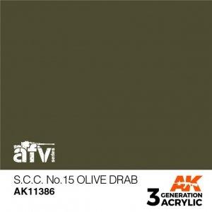 AK-Interactive AK 11386 S.C.C. No.15 Olive Drab 17ml