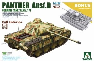 Takom 2103 Panther Ausf. D 2in1 Mid/Early Full Interior Kit 1/35