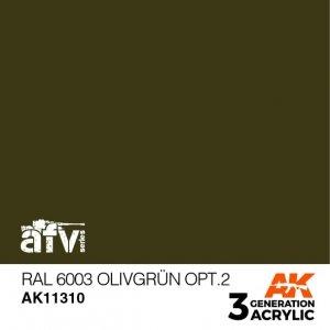 AK-Interactive AK 11310 RAL 6003 OLIVGRÜN OPT.2 17ml