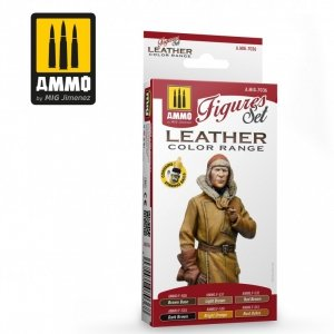 AMMO of Mig Jimenez 7036 LEATHER FIGURES SET 6x17ml