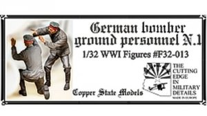 Copper State Models F32-013 German bomber ground personnel N.1 1:32