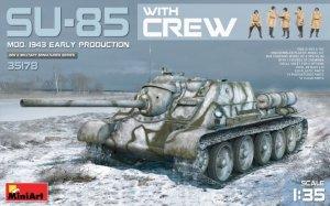MiniArt 35178 SU-85 Mod. 1943 Early Production w/Crew 1/35