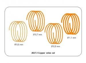 Aber ADZ-03 Wires set (diameter 0,5; 0,7; 0,9; 1,1 mm , length 1m each)