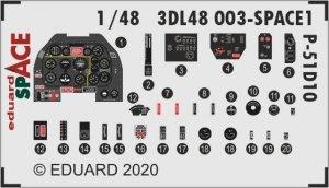 Eduard 3DL48003 P-51D-10 SPACE 3D for Eduard 1/48