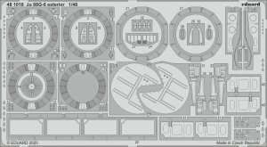 Eduard 481018 Ju 88G-6 exterior for DRAGON 1/48