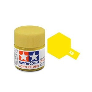 Tamiya 81008 Acryl X-8 Lemon Yellow 23ml