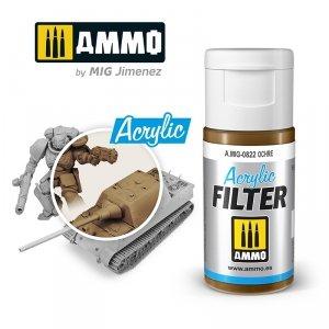 Ammo of Mig 0822 ACRYLIC FILTER Ochre 15 ml