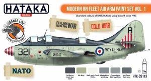 Hataka HTK-CS113 Modern RN Fleet Air Arm Paint Set Vol. 1 (6x17ml)