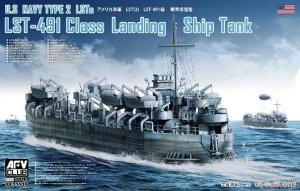 AFV Club SE73519 U.S Navy Type 2 LSTs LST-491 Class Landing Ship Tank 1/350
