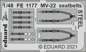 Eduard FE1177 MV-22 seatbelts STEEL HOBBY BOSS 1/48