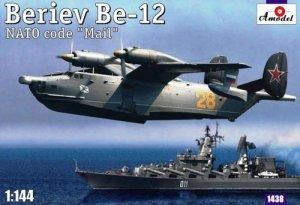 A-Model 01438 Beriev Be-12 'Mail' Russian Anti-Submarines Amphibious Aircraft 1:144