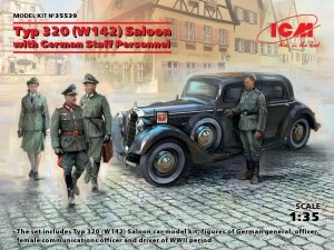 ICM 35539 Typ 320 (W142) Saloon with German Staff Personnel 1/35