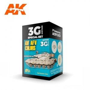 AK Interactive AK 11650 IDF AFV COLORS 3x17ml