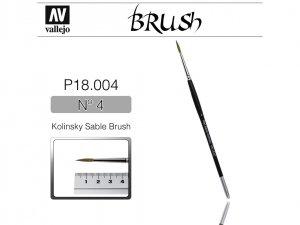Vallejo Brush P18004 Kolinsky Sable Brush No.4