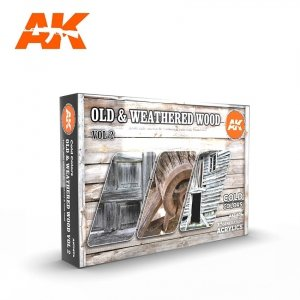 AK Interactive AK 11674 OLD & WEATHERED WOOD VOL 2  6x17 ml