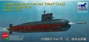 Bronco BB2004 Chinese PLA Navy Type 041 Yuan Class attack Submarine 1/200