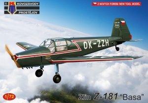 """Kovozavody Prostejov KPM0229 Zlin Z-181 """"Basa"""" 1/72"""