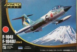 Kinetic K48092 F-104J F104DJ Starfighter J.A.S.D.F. (2 in 1) 1/48