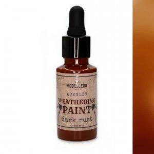 Modellers World MWE009 Weathering paint : Dark rust 30 ml