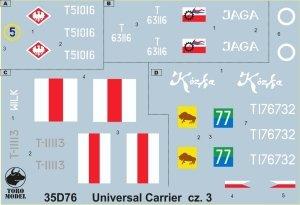 ToRo Model 35D76 Universal Carrier w polskiej służbie cz.3 1/35