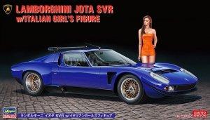 Hasegawa 20472 Lamborghini Jota SVR w/Italian Girl's Figure 1/24