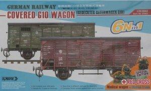 Sabre Model 35A01-RCSP German Railway Covered G10 Wagon - Red Cross Gedeckter Güterwagen G10 1/35