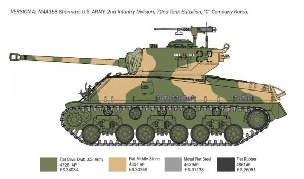 Italeri 6586 Sherman M4A3E8 - Korean War 1/35