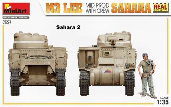 MiniArt 35274 M3 LEE MID PROD. SAHARA w/CREW 1/35