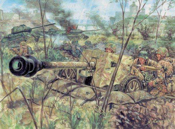 Italeri 6096 German PAK-40 Anti-Tank Gun w/ Crew
