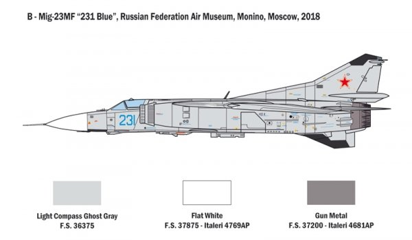 Italeri 2798 MiG-23 MF/BN FLOGGER 1/48