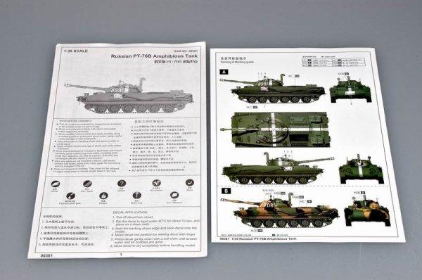 Trumpeter 00381 Russian PT-76B Light Amphibious Tank (1:35)