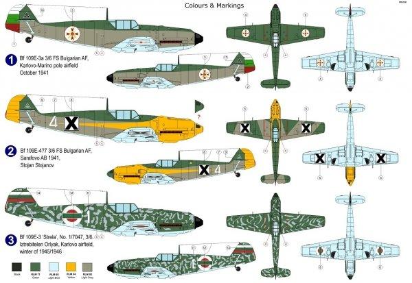 """AZ Model AZ7677 Bf 109E-3 """"Bulgarian Eagles"""" 1/72"""