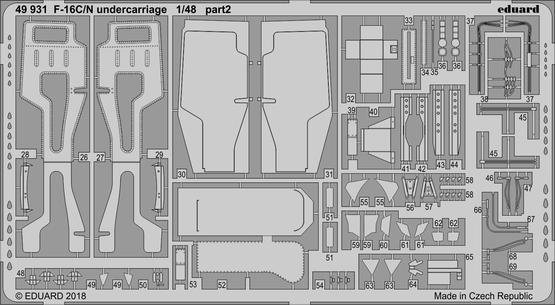 Eduard BIG49208 F-16C/ N 1/48 TAMIYA