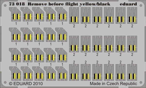 Eduard 73018 Remove Before Flight - yellow/ black 1/72