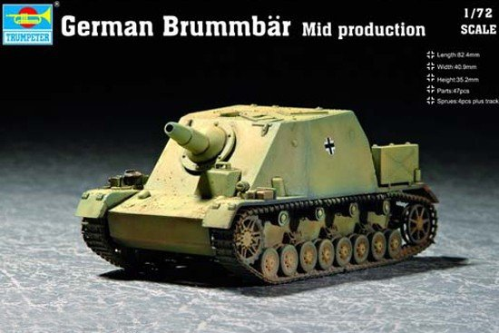 Trumpeter 07211 German Brummbar Mid production (1:72)